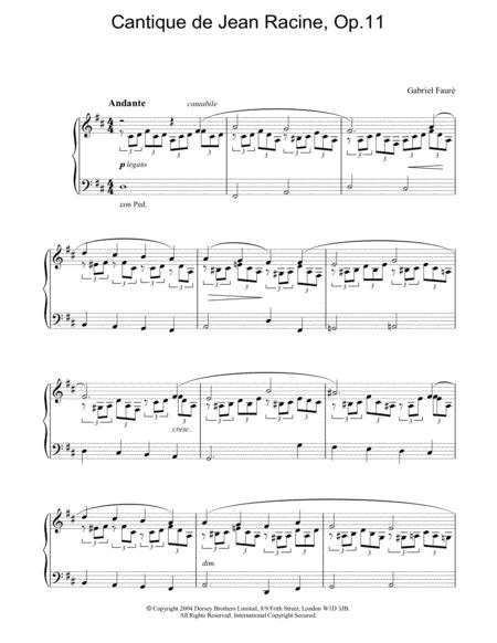 Cantique de Jean Racine, Op.11