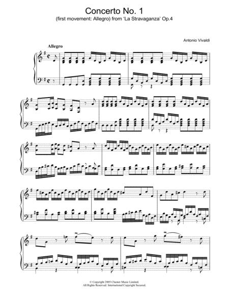 Allegro) from 'La Stravaganza' Op.4