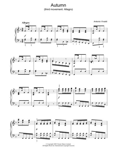 Autumn (third movement: Allegro)