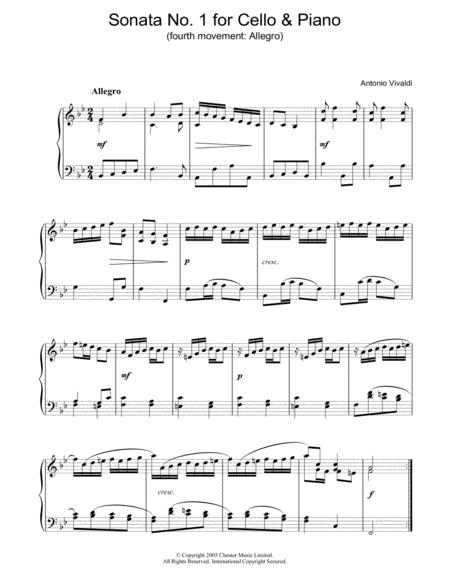 Sonata No.1 for Cello & Piano (4th Movement: Allegro)