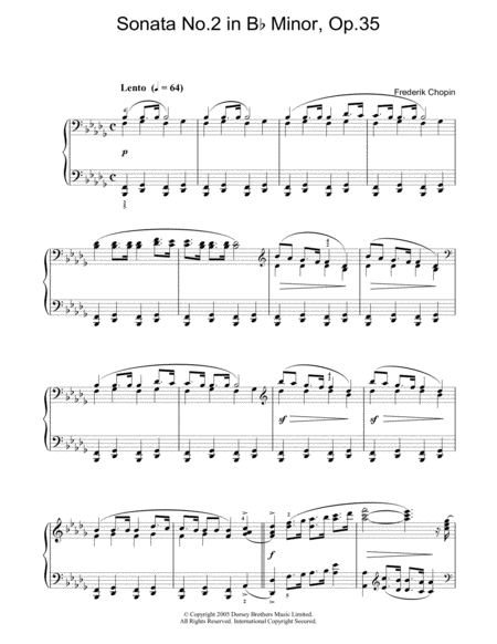 Sonata No. 2 In Bb Minor, Op.35 (Funeral March)