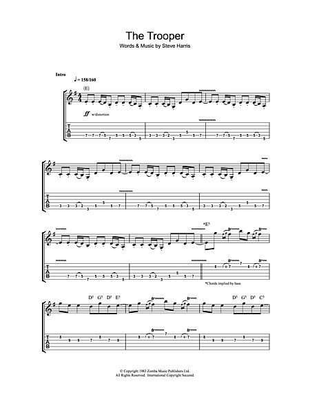 the trooper guitar pdf
