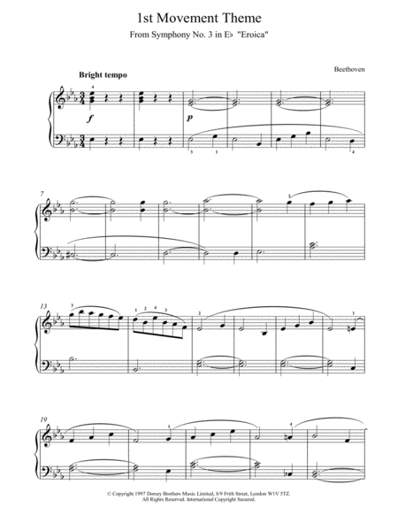 1st Movement Theme From Eroica