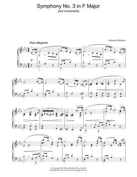 Symphony No. 3 In F Major (3rd movement: Poco allegretto)