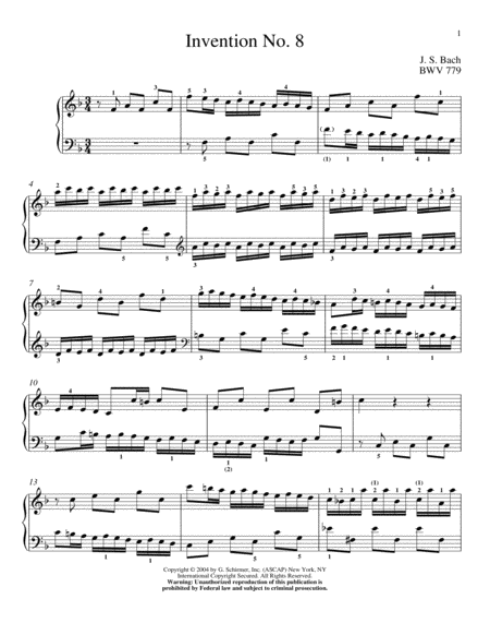 Two-Part Invention In F Major