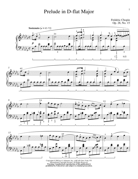 Prelude In Db Major, Op. 28, No. 15 (Raindrop)