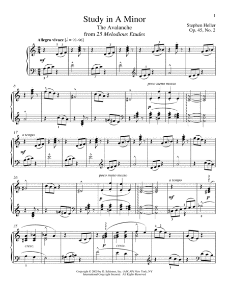 Avalanche, Op. 45, No. 2