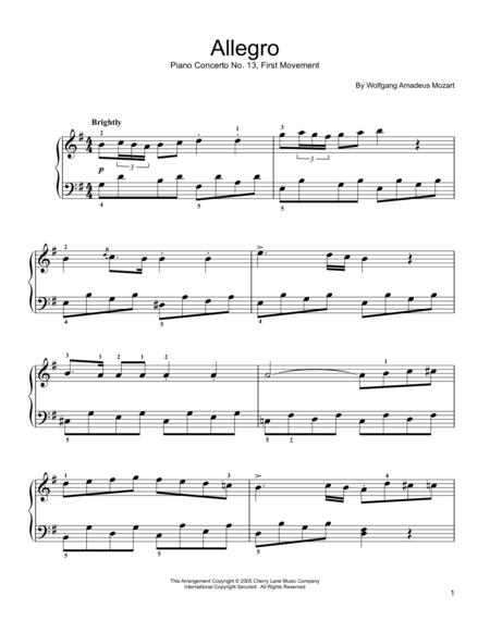 Piano Concerto No. 13 (First Movement)