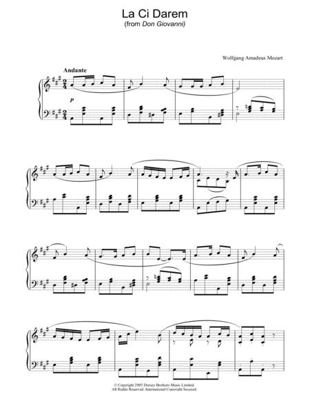 La Ci Darem La Mano (from Don Giovanni)