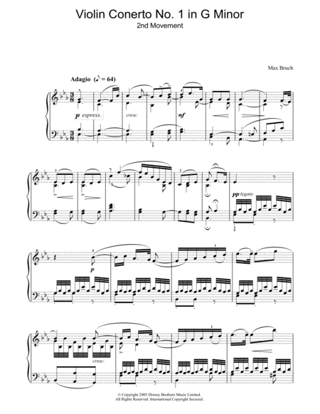 Violin Concerto No.1 In G Minor (2nd Movement)