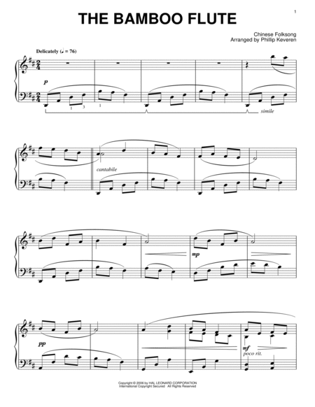 Asian music sheet