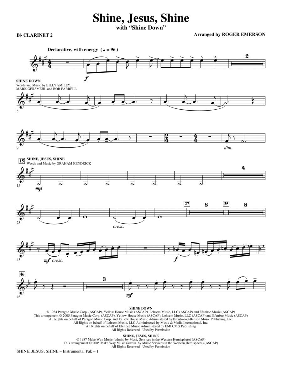 Shine Jesus Shine (with Shine Down) - Bb Clarinet 2