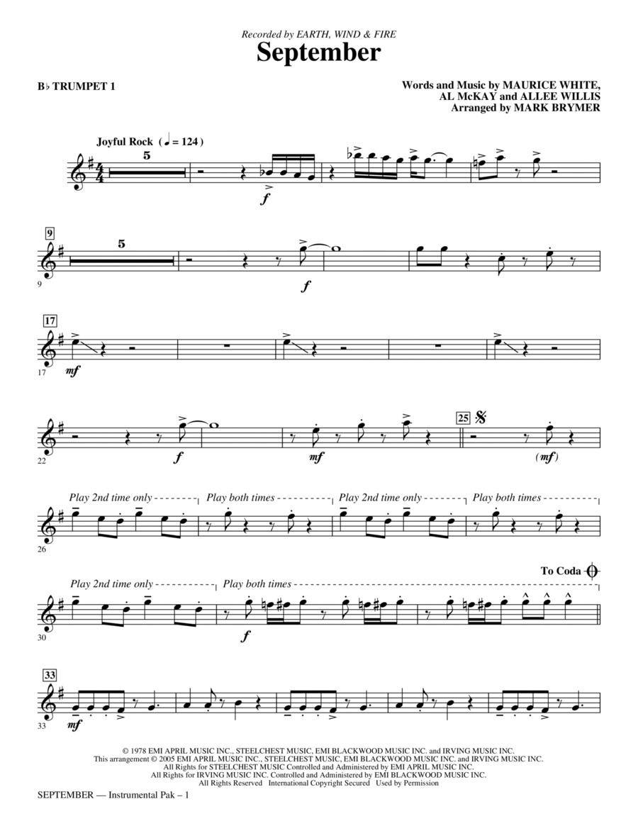 September - Bb Trumpet 1