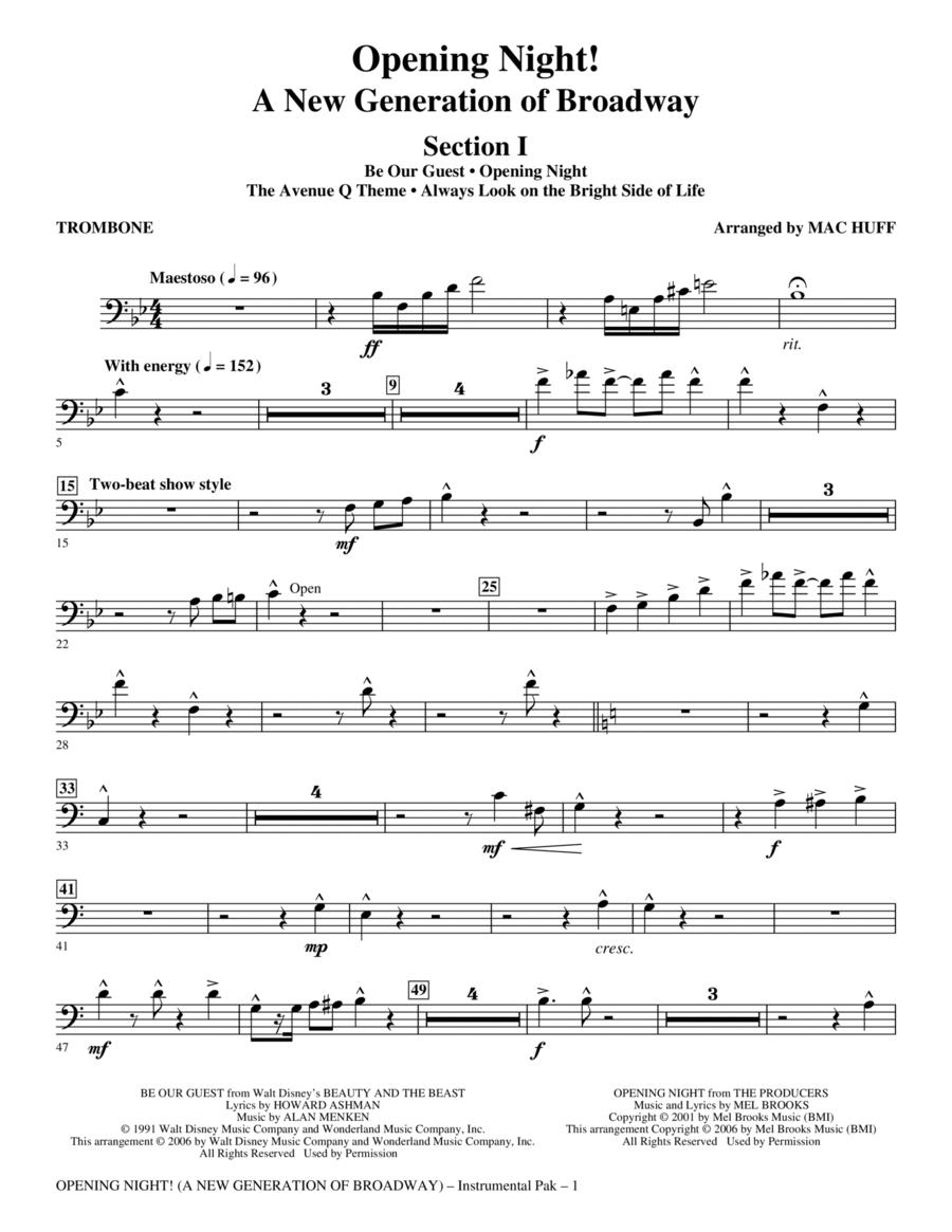 Opening Night - Trombone