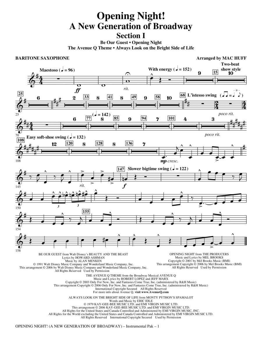 Opening Night - Baritone Sax