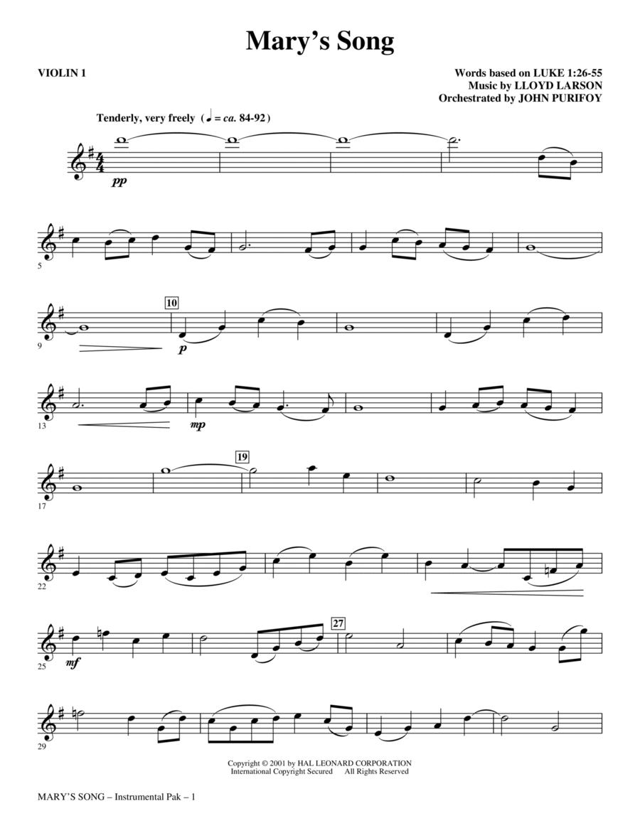 Mary's Song - Violin 1