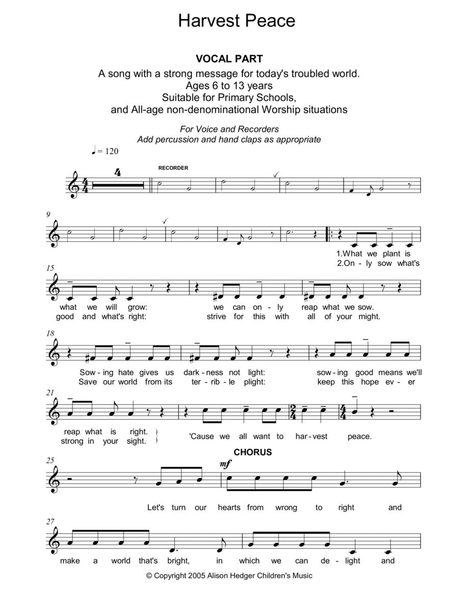 Harvest Peace (Vocal Part)