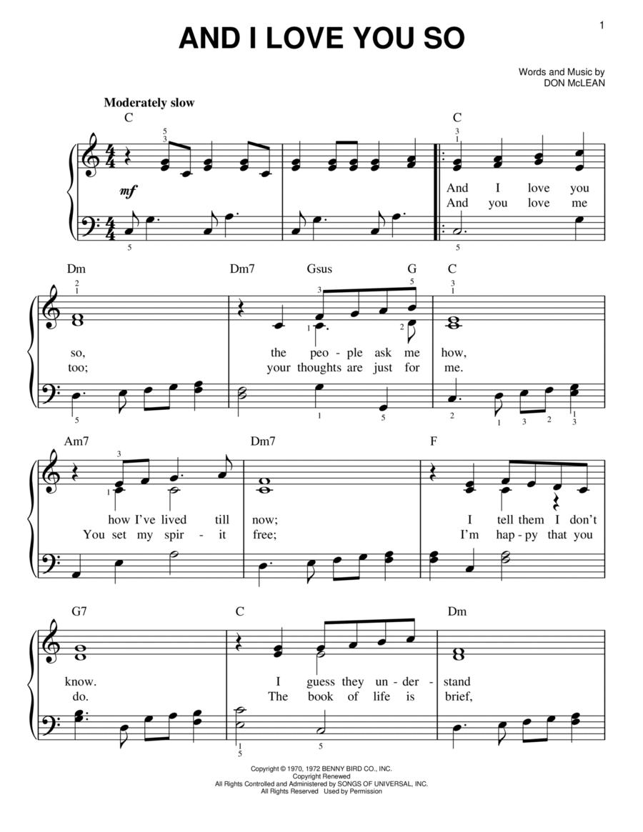 you and i sheet music pdf