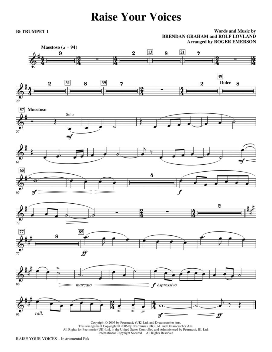 Raise Your Voices - Bb Trumpet 1