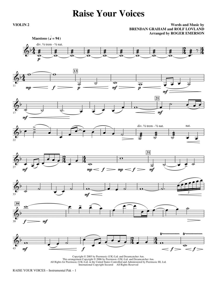 Raise Your Voices - Violin 2