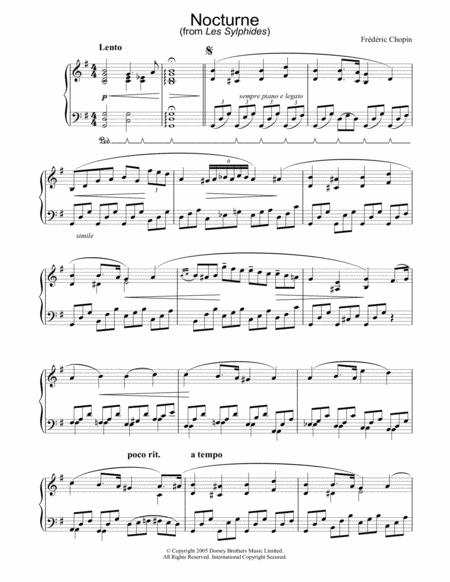 Nocturne (from Les Sylphides)