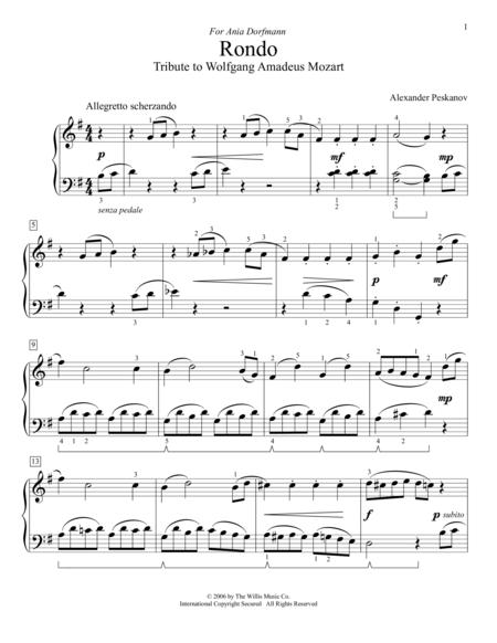 Rondo (Tribute To Wolfgang Amadeus Mozart)