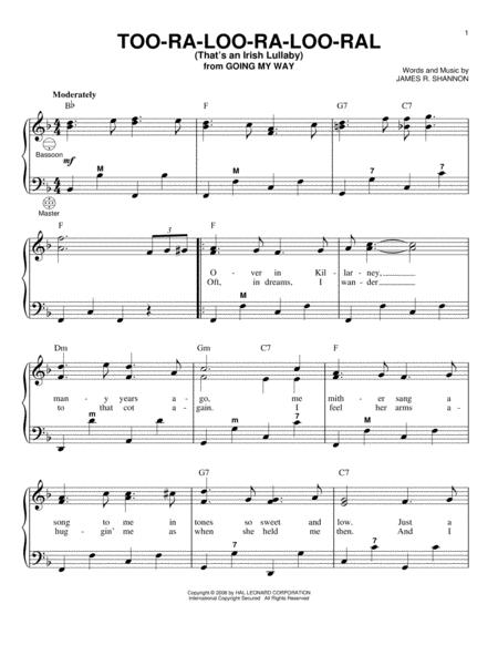 Too-Ra-Loo-Ra-Loo-Ral (That's An Irish Lullaby)