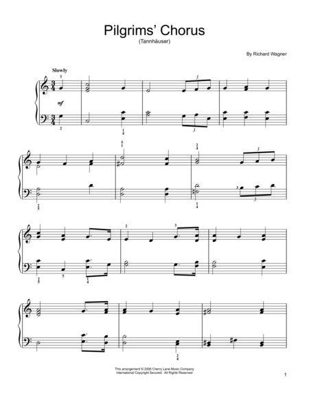 Pilgrims' Chorus