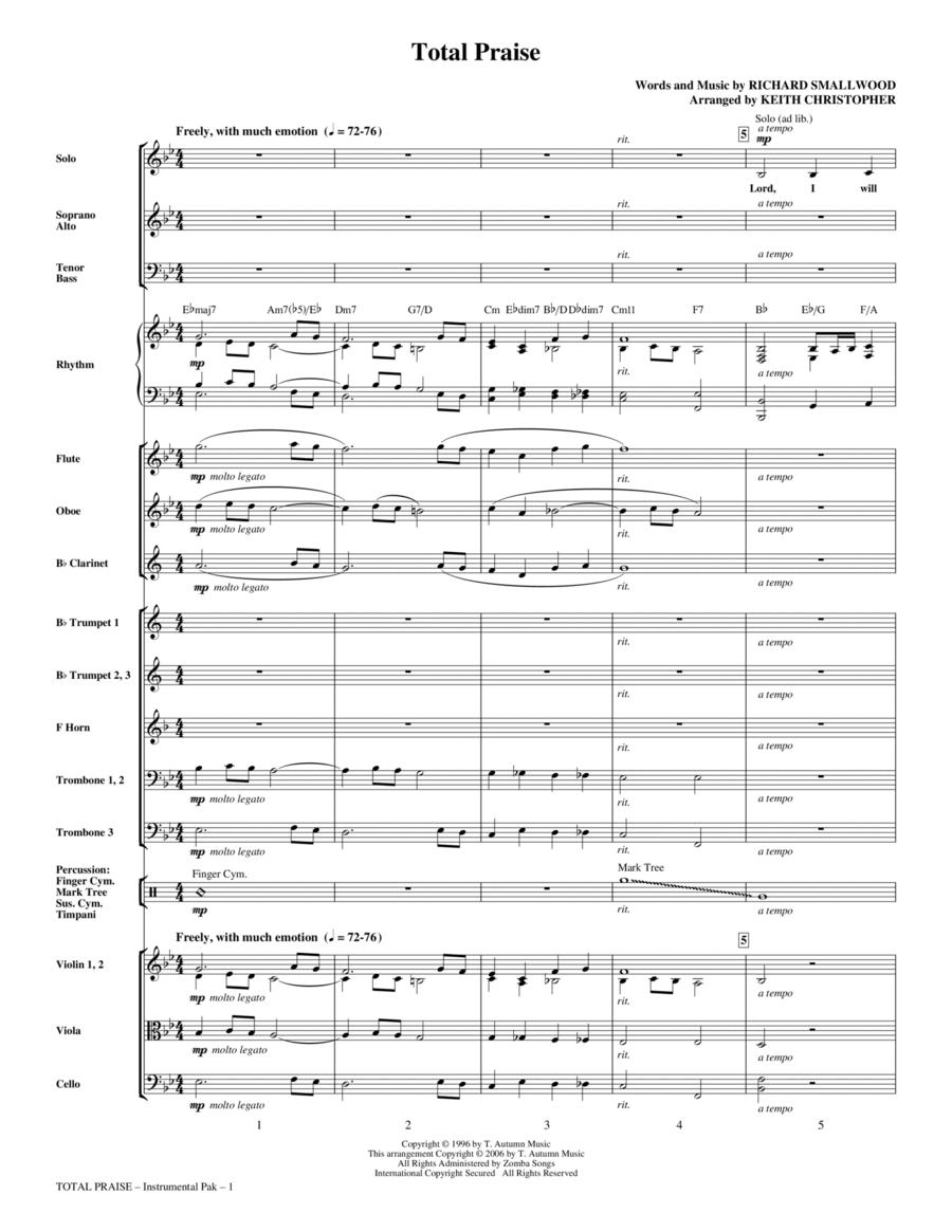 Total Praise - Full Score