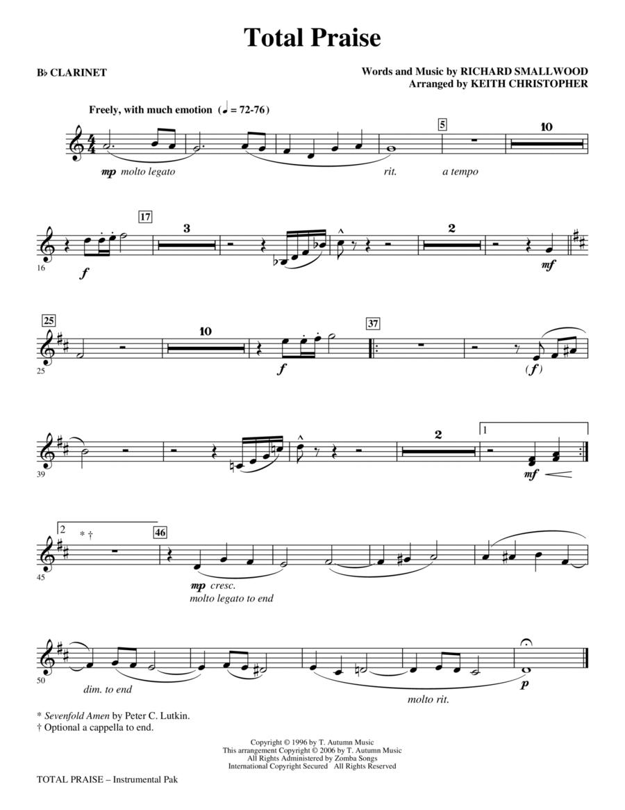 Total Praise - Bb Clarinet