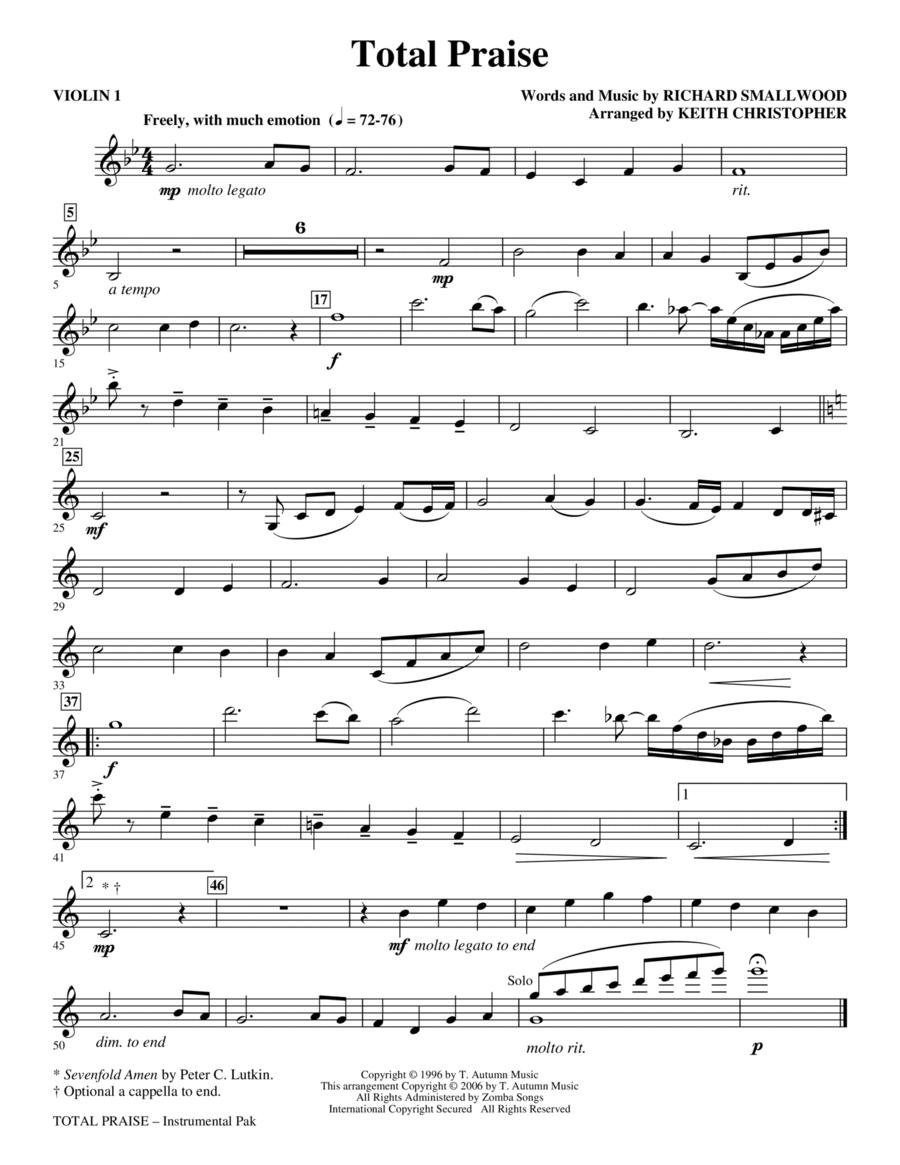 Total Praise - Violin 1
