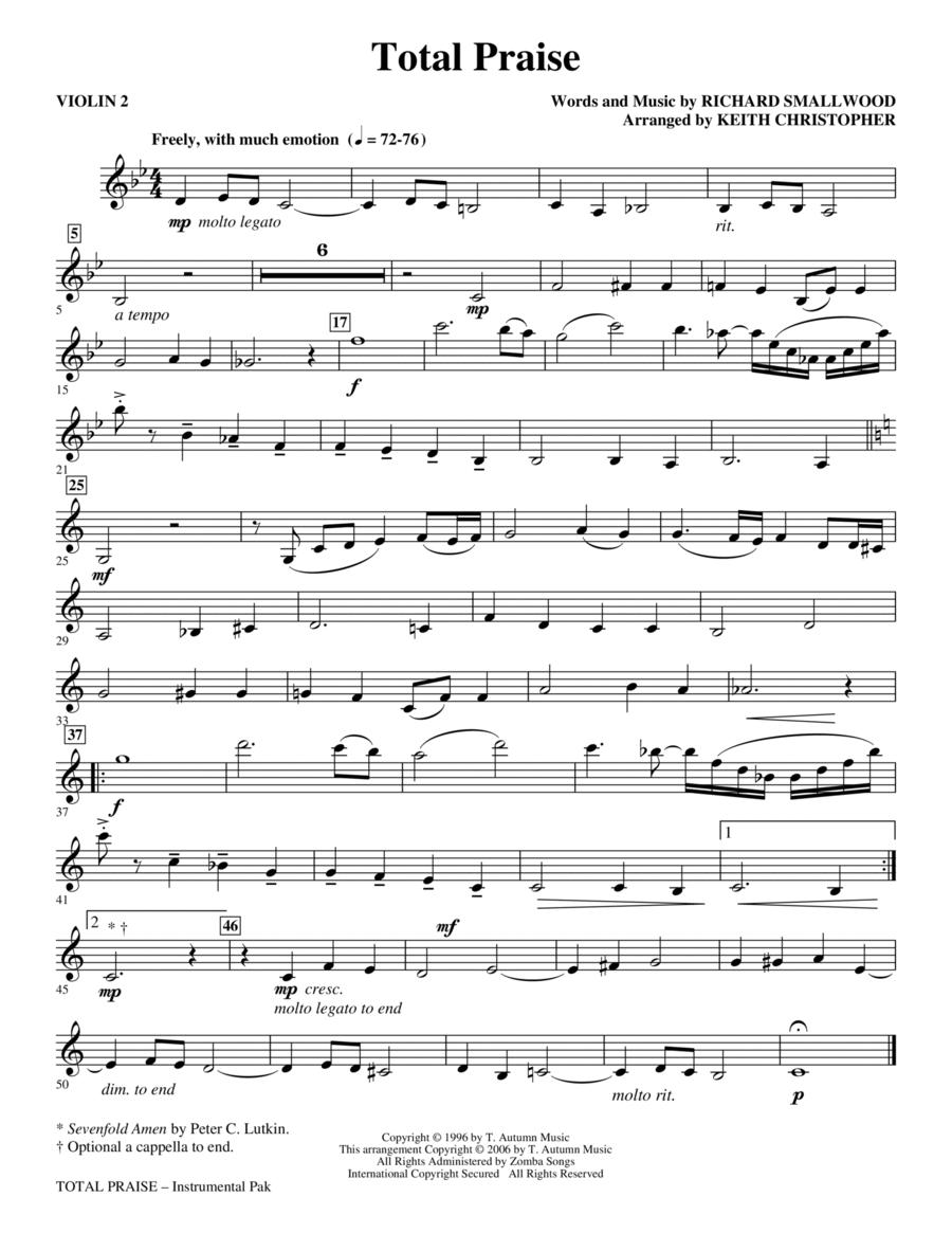 Total Praise - Violin 2