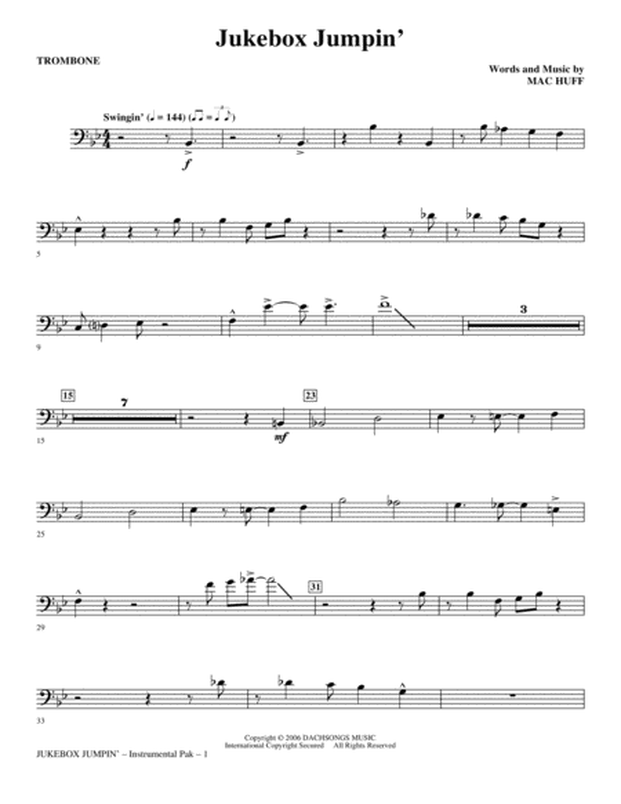 Jukebox Jumpin' - Trombone