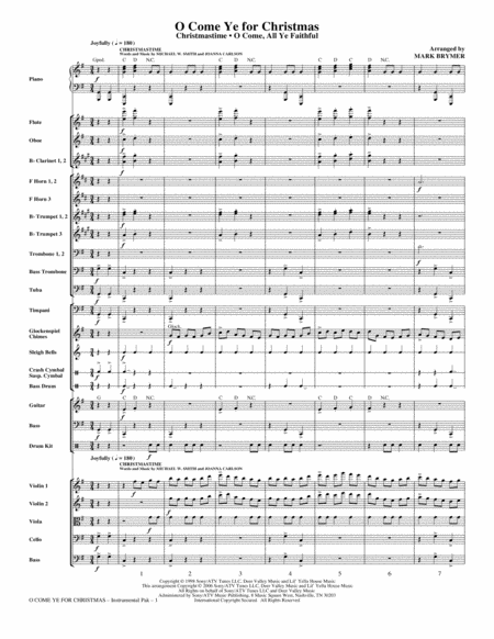 O Come Ye For Christmas (Medley) - Conductor Score (Full Score)