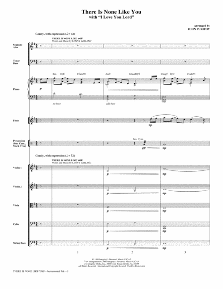 There Is None Like You (with I Love You Lord) - Full Score
