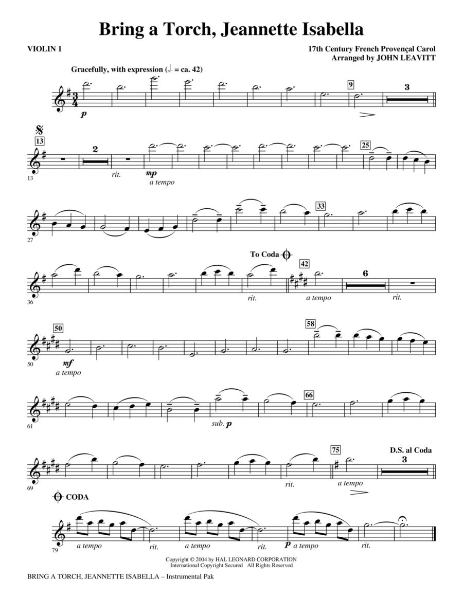 Bring a Torch, Jeanette Isabella - Violin 1