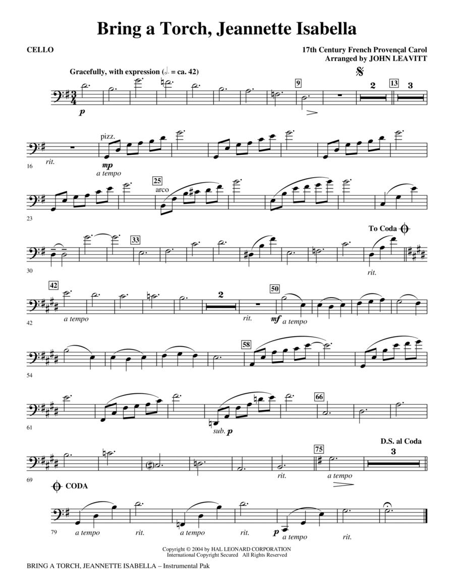 Bring a Torch, Jeanette Isabella - Cello