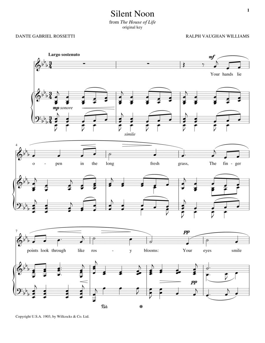 Silent Noon (Vaughan Williams)