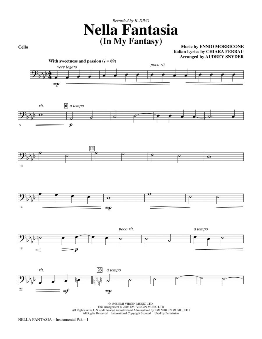 Nella Fantasia (In My Fantasy) - Cello