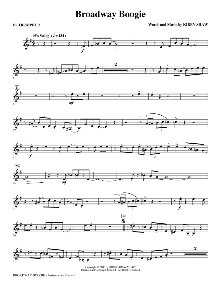 Broadway Boogie - Trumpet 2