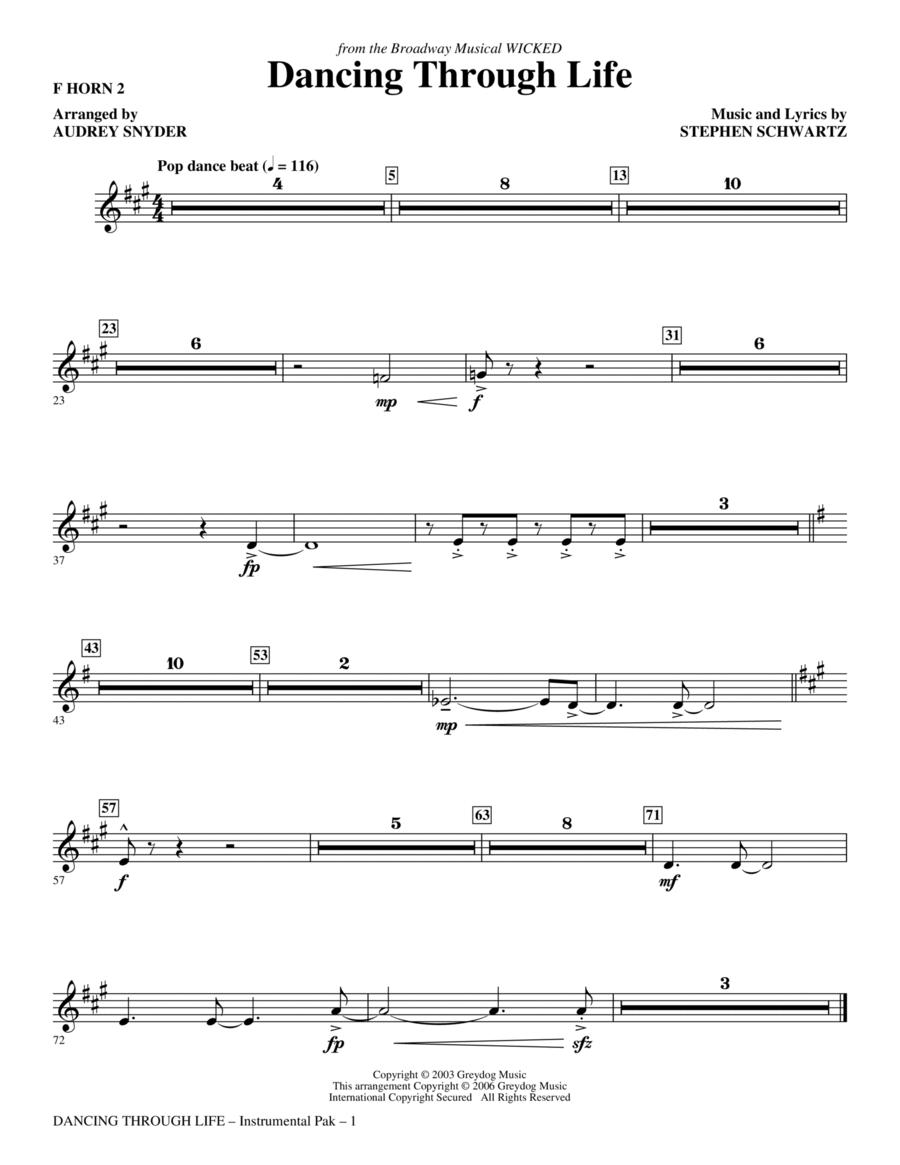 Dancing Through Life - F Horn 2