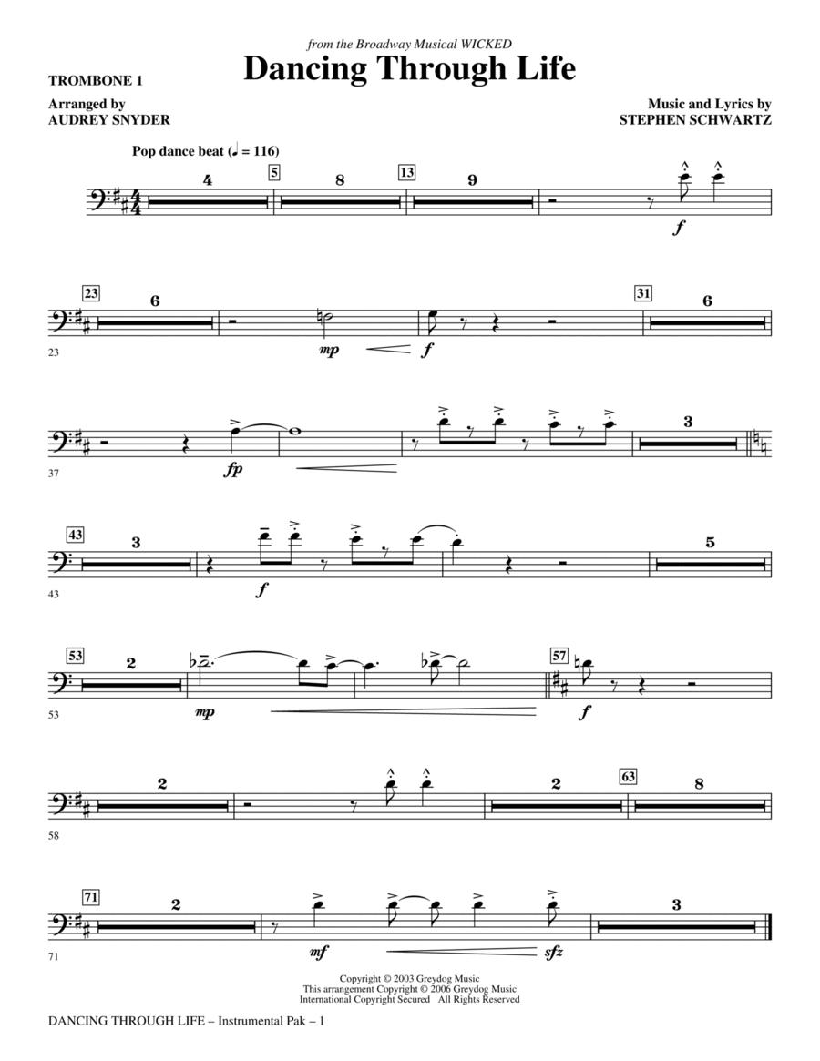 Dancing Through Life - Trombone 1