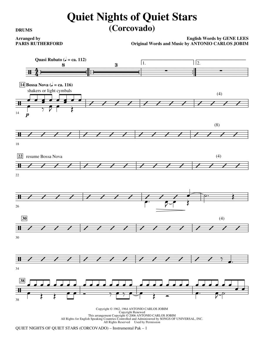 Quiet Nights of Quiet Stars (Corcovado) - Drums