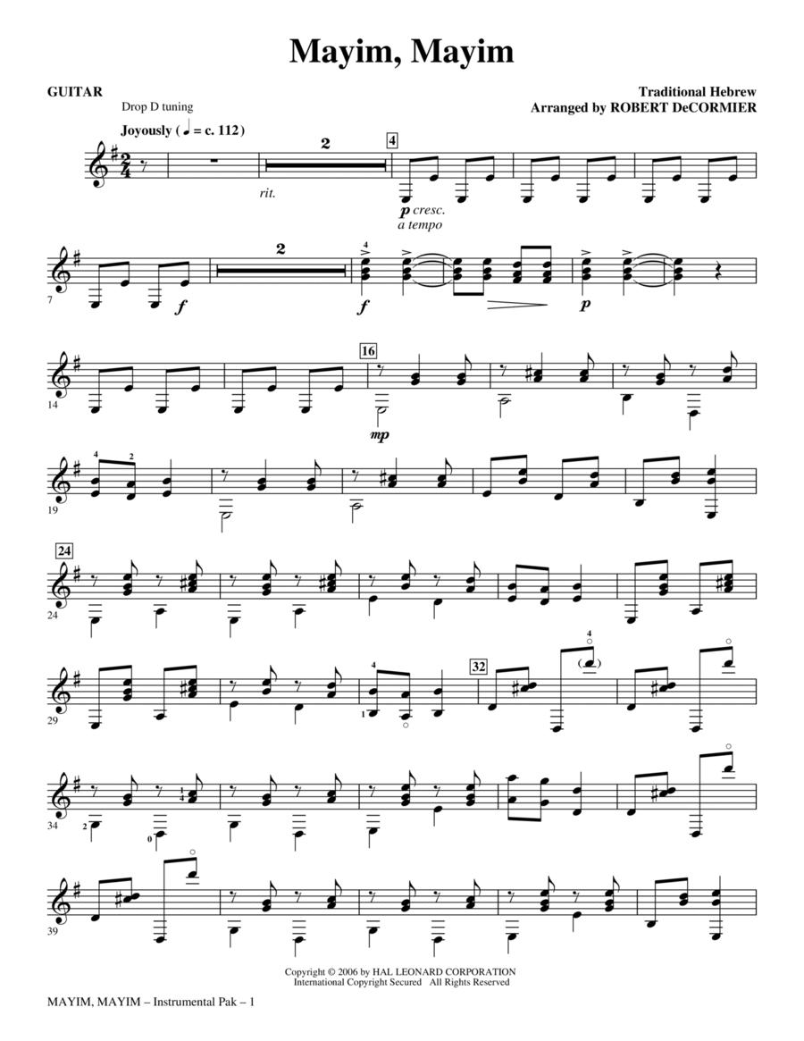 Mayim, Mayim - Guitar