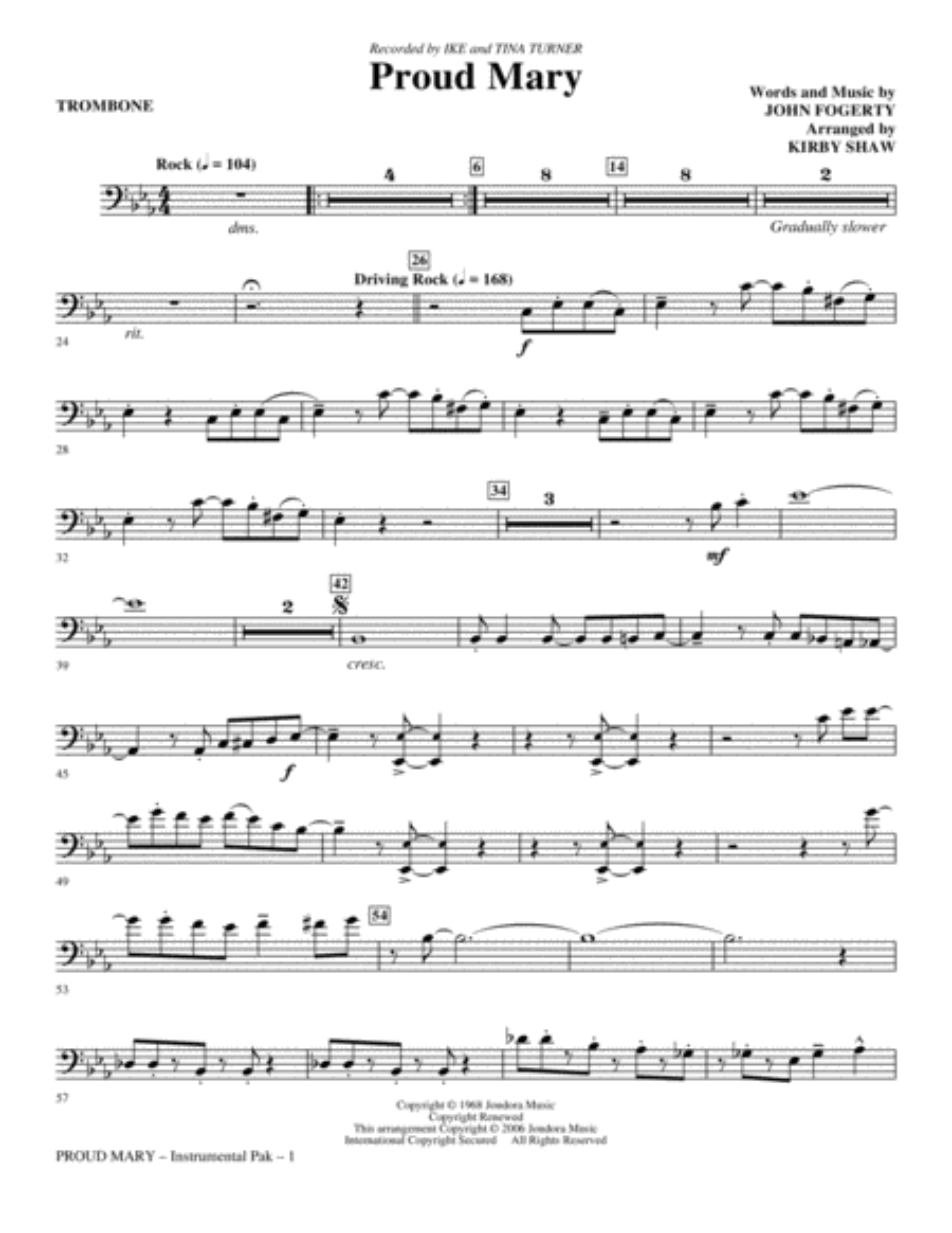 Proud Mary - Trombone