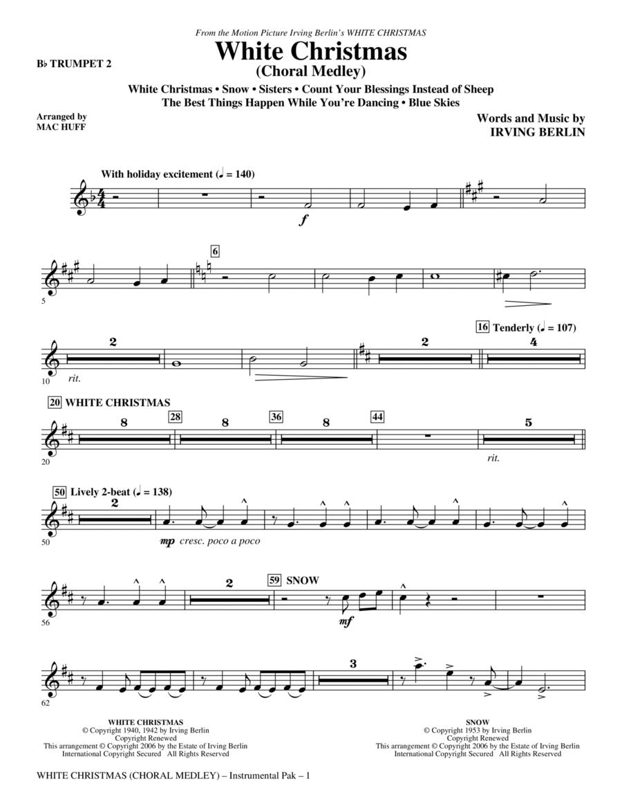 White Christmas (Choral Medley) - Bb Trumpet 2