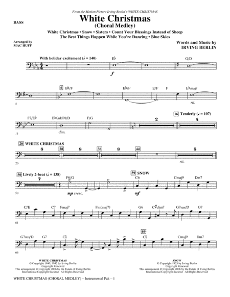 White Christmas (Choral Medley) - Bass