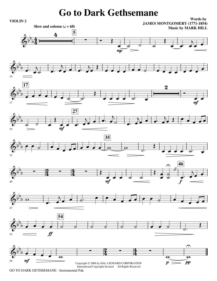 Go To Dark Gethsemane - Violin 2