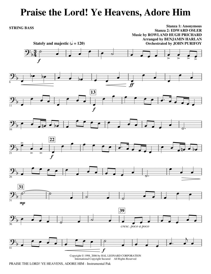 Praise The Lord! Ye Heavens, Adore Him - String Bass