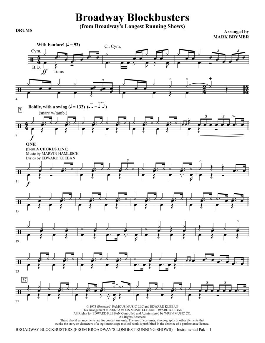 Broadway Blockbusters - Drums